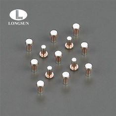 Trimetal Composite  Electrical Contact Rivets Silver Copper Alloy Flat Head
