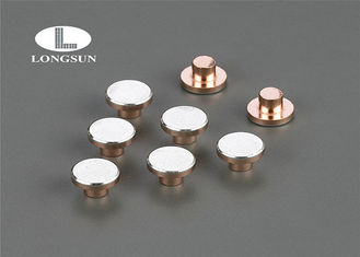 Round head or flat head silver alloy  rivet contacts Electrical Solid or Bimetal Moving Contact Tips