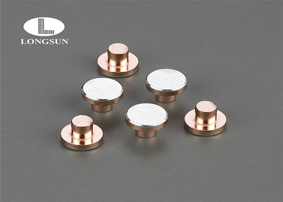 Electric Silver  For Circuit Protection / Solid Copper Rivets With SGS Approved